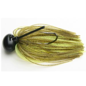 Keitech Rubber Jig Model II 1/2 oz Green Pumpkin Chartreuse