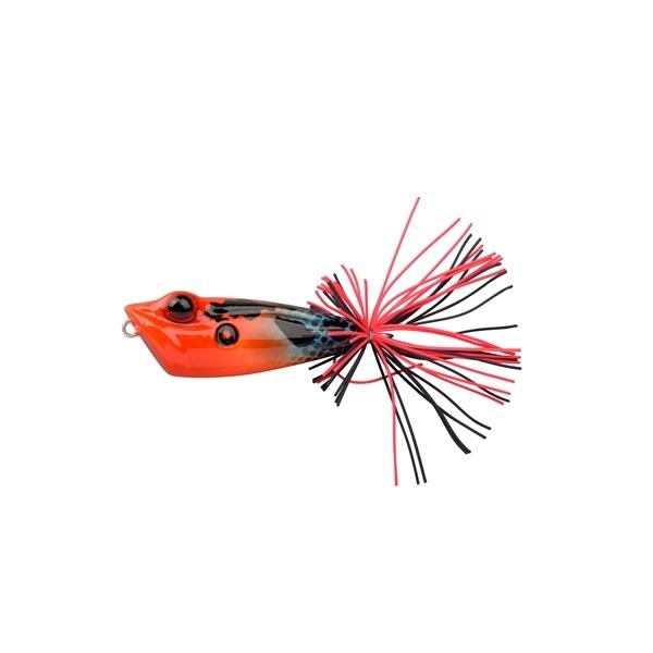 Señuelo de superficie Ikiru Hard Frog de Spro Red Poison Dart