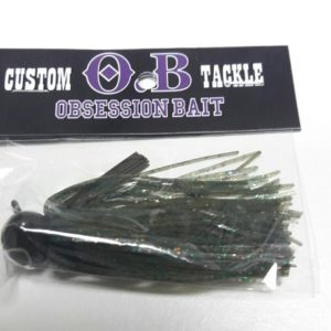 Obsession Bait Jigs1/2 oz Watermelon Green Orange