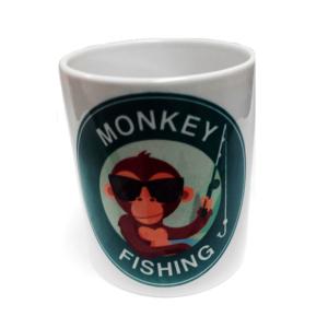 Taza de desayuno Logotipo Monkey Fishing