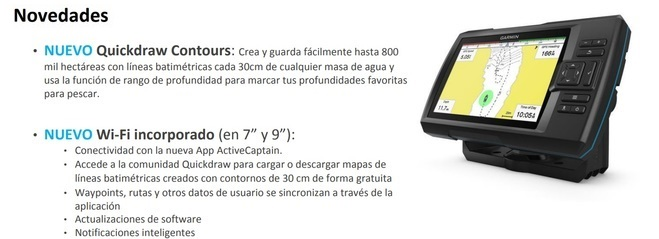 Garmin Striker Plus Sonda Garmin Striker Nautica
