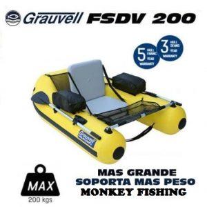 Grauvell FSDV 200 Pato de pesca con remos