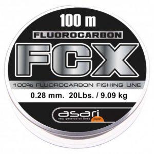 Fluorocarbono Asari FCX 100m 0,28MM Hilo de Pesca