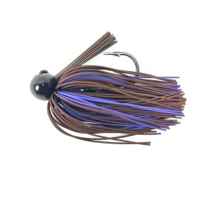 Bass patrol jigs 3/4 oz brown purple