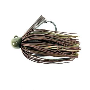 jigs bass patrol 3/8 oz brown pumpkin red